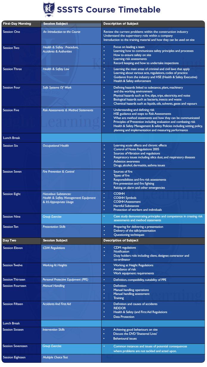 sssts- Birmingham -timetable